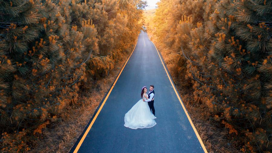 havadan düğün
