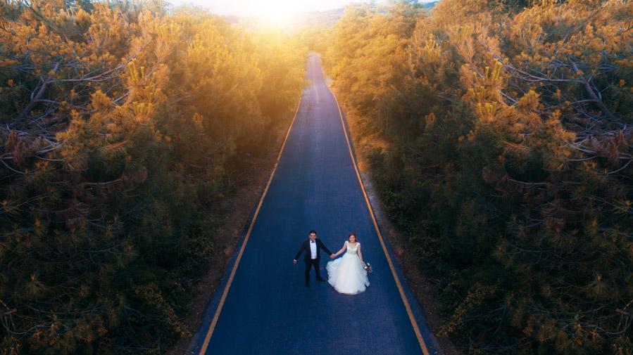 drone düğün fotoğrafları (13)