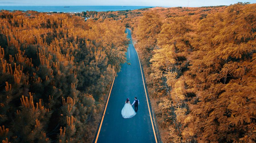 drone düğün fotoğrafları